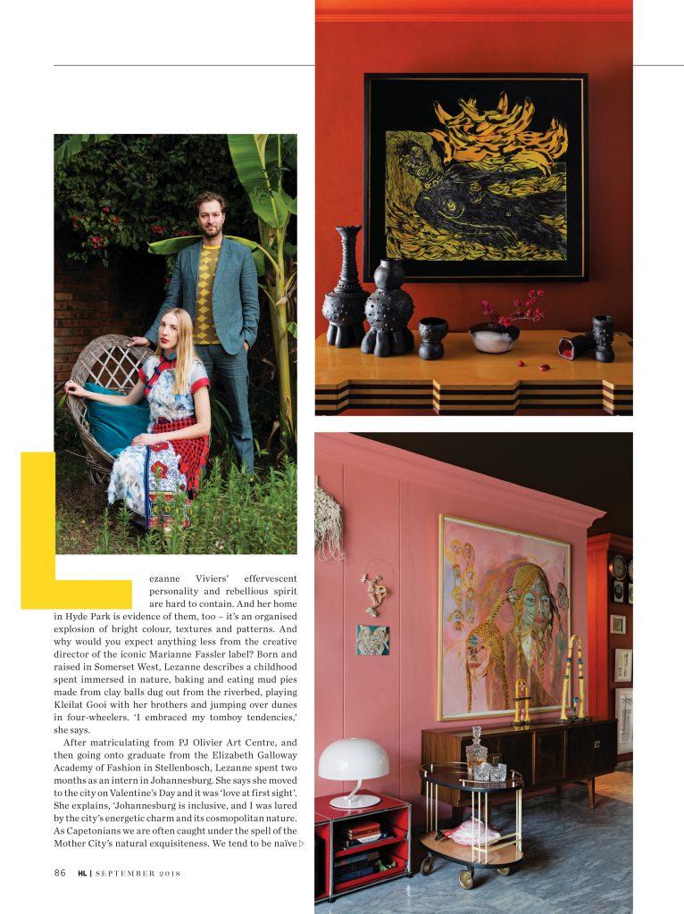 Collective sense: lezanne viviers' colourful, art-filled apartment